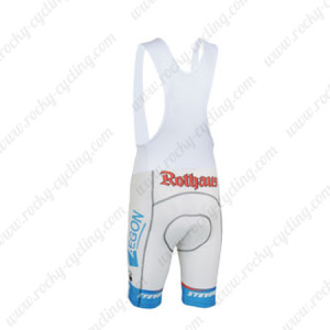 2013 Team Rothaus Cycling Bib Shorts White Blue