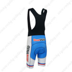 2013 Team RusVelo Biking Bib Shorts Red White Blue