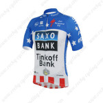 2013 Team Tinkoff SAXO BANK Bicycle Jersey Blue White Red