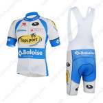 2013 Team Topsport Baloise Cycling Bib Kit White Blue