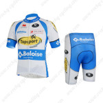 2013 Team Topsport Baloise Cycling Kit White Blue