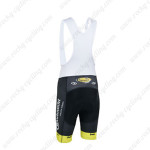 2013 Team Topsport Cycling Bib Shorts Black Yellow