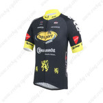 2013 Team Topsport Cycling Jersey Black Yellow