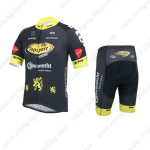 2013 Team Topsport Cycling Kit Black Yellow