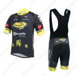 2013 Team Topsport Riding Bib Kit Black Yellow
