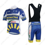 2013 Team Vacansoleil DCM Riding Bib Kit Blue