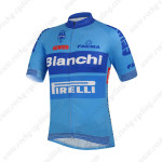 2014 Team Bianchi PIRELLI Cycling Jersey Blue