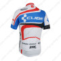 2014 Team CUBE Bicycle Jersey White Blue Red