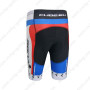 2014 Team CUBE Bicycle Shorts White Blue