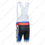 2014 Team CUBE Cycling Bib Shorts White Blue Red