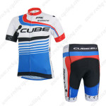 2014 Team CUBE Cycling Kit White Blue