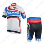 2014 Team CUBE Cycling Kit White Blue Red