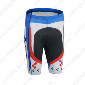 2014 Team CUBE Cycling Shorts White Blue Red