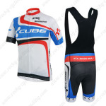 2014 Team CUBE Riding Bib Kit White Blue Red