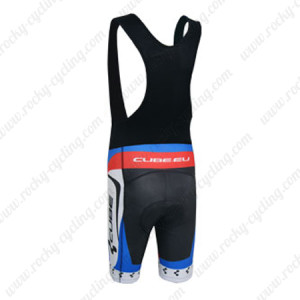 2014 Team CUBE Riding Bib Shorts White Blue Red
