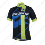 2014 Team Giordana Cycling Jersey Black Blue Green