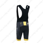 2014 Team PINARELLO Biking Bib Shorts Black Yellow