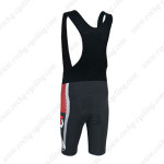 2014 Team SCOTT Biking Bib Shorts Black White Red