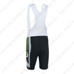 2014 Team SCOTT Cycling Bib Shorts Black White Green