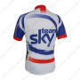 2014 Team SKY Bicycle Jersey White Blue Red