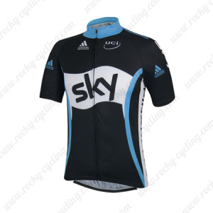 2014 Team SKY Cycling Jersey Black White Blue