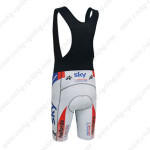 2014 Team SKY Riding Bib Shorts White Blue Red