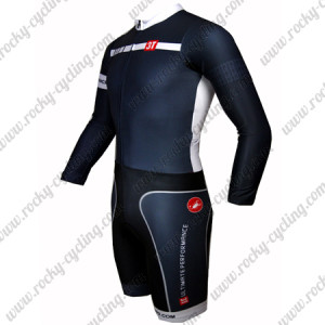 2015 Team 3T Long Sleeves Triathlon Cycling Outfit Skinsuit Black White
