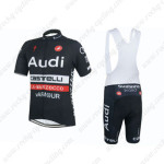 2015 Team Audi Cycling Bib Kit Black