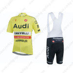 2015 Team Audi Cycling Bib Kit Yellow