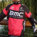 2015 Team BMC Riding Raincoat Wind-proof Red Black