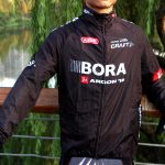 2015 Team BORA ARGON 18 Cycling Raincoat Wind-proof Black