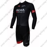 2015 Team BORA ARGON 18 Long Sleeves Triathlon Riding Outfit Skinsuit Black