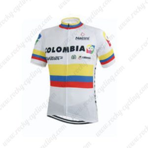 2015 Team COLOMBIA Cycling Jersey White