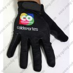 2015 Team COLOMBIA Cycling Long Gloves Full Fingers Black