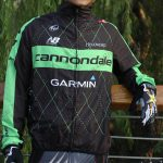 2015 Team Cannondale GARMIN Cycling Raincoat Wind-proof Black Green