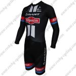 2015 Team GIANT Alpecin Long Sleeves Triathlon Cycling Outfit Skinsuit Black
