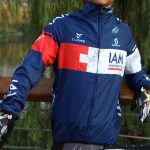 2015 Team IAM Biking Raincoat Wind-proof Blue