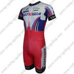 2015 Team KATUSHA Short Sleeves Triathlon Cycling Wear Skinsuit White Red