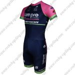 2015 Team Lampre MERIDA Short Sleeves Triathlon Biking Uniform Skinsuit Pink Blue