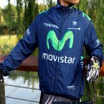 2015 Team Movistar Cycling Raincoat Wind-proof Blue