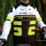 2015 Team Nalini Cycling Raincoat Wind-proof Black White Green