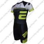 2015 Team Nalini Short Sleeves Triathlon Riding Apparel Skinsuit Black White Green