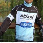 2015 Team QUICK STEP Biking Raincoat Wind-proof Black White Blue