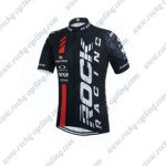 2015 Team ROCK RACING Cycling Jersey Black Red