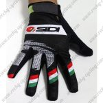 2015 Team SIDI Cycling Long Gloves Full Fingers Black