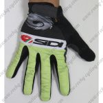 2015 Team SIDI Riding Long Gloves Full Fingers Black Green