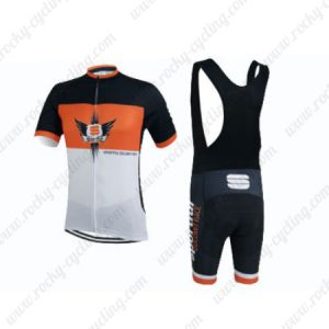 2015 Team Sportful Cycling Bib Kit Orange White