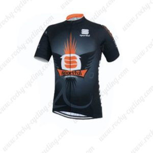 2015 Team Sportful Cycling Jersey Black
