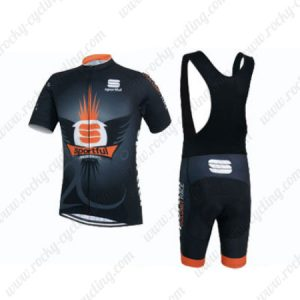 2015 Team Sportful Riding Bib Kit Black