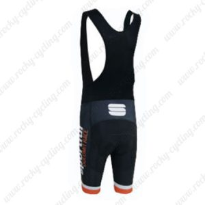 2015 Team Sportful Riding Bib Shorts Orange White